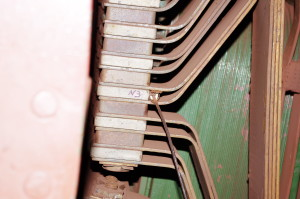 Surface type temperature sensor, engine compensation winding of the EI (the stator), mark +81 m., Rodina mine, KIOC