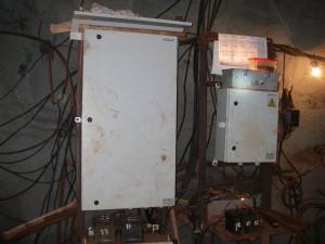 Cabinet of controllers horizon with uninterruptible power supply unit, horizon -1340 m., Yubileynaya mine, EVRAZ